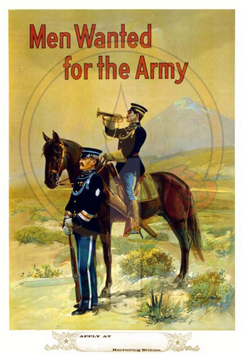 Men Wanted for the Army (cavalry)