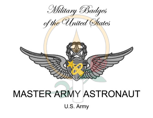 Badge Card, Master Army Astronaut