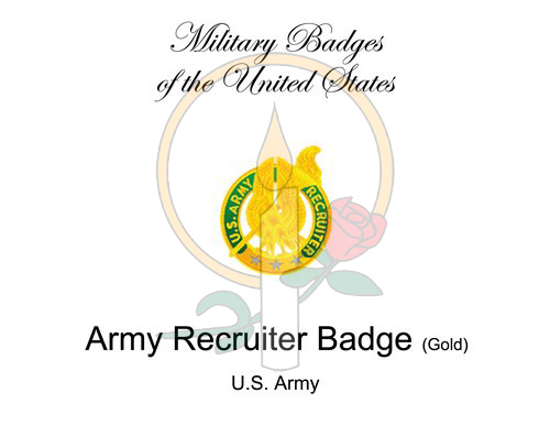 Badge Card, Army Recruiter (Gold)