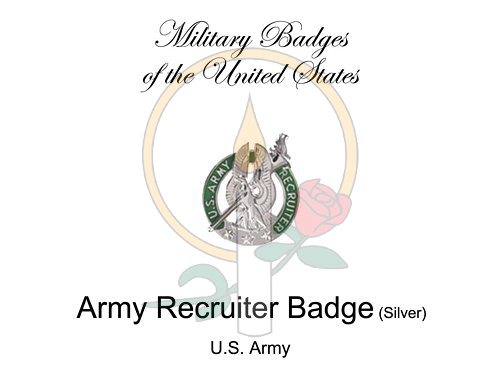 Badge Card, Army Recruiter (Silver)