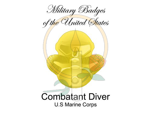 Badge Card, Combatant Diver