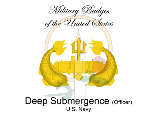 Badge Card, Deep Submergence (Officer)
