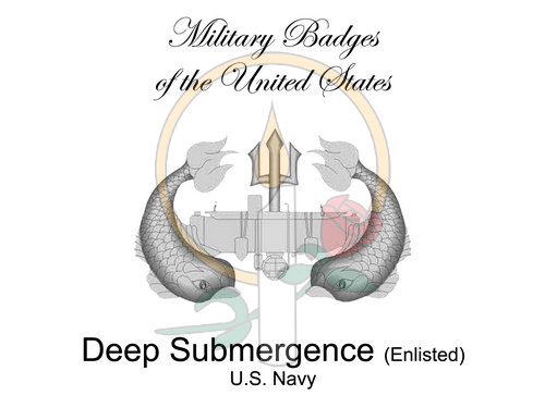 Badge Card, Deep Submergence (Enlisted)
