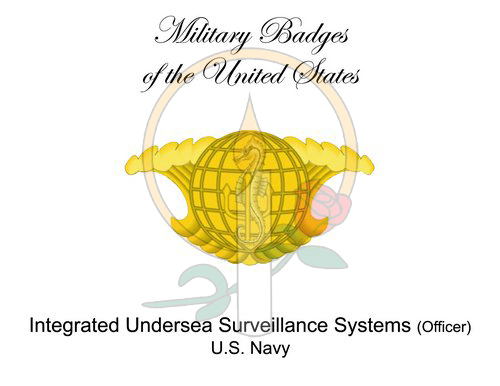 Badge Card, Integrated Undersea Surveillance Systems (Officer)