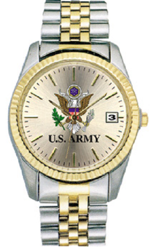Two Tone Dress Watch Army