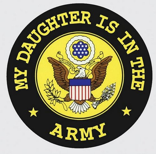 "My Daughter is in the Army 4"" Decal"
