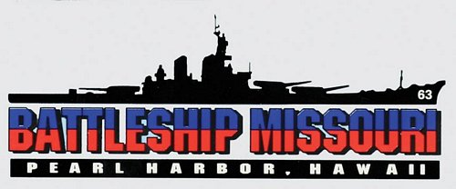 Battleship Missouri Window Decal