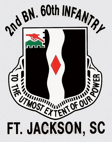 2nd BN 60th INF. Ft. Jackson Decal