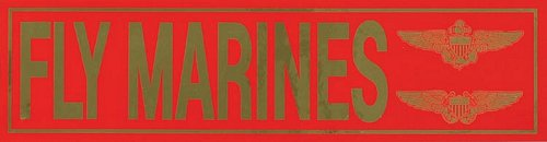 """Fly Marines"" Metallic Bumper Sticker"