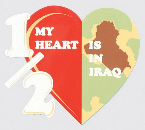 Half My Heart is in Iraq Decal