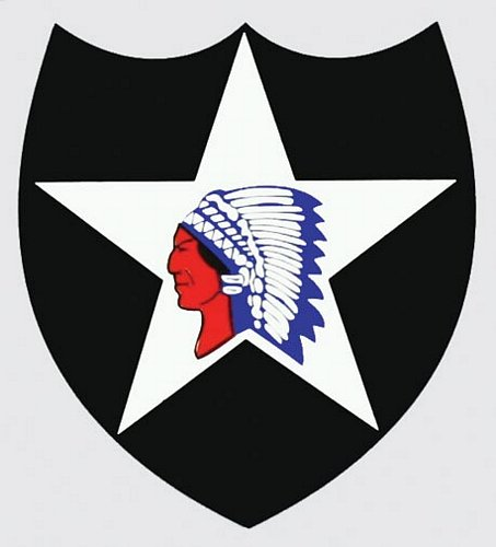 2nd Infantry Division/Indian Head Decal