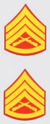 E-6 Staff Sgt. Mini Decal (2 pc)