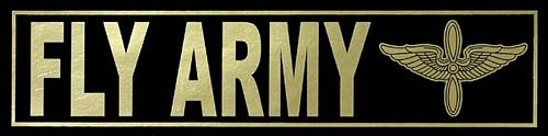FLY ARMY Metallic Bumper Sticker
