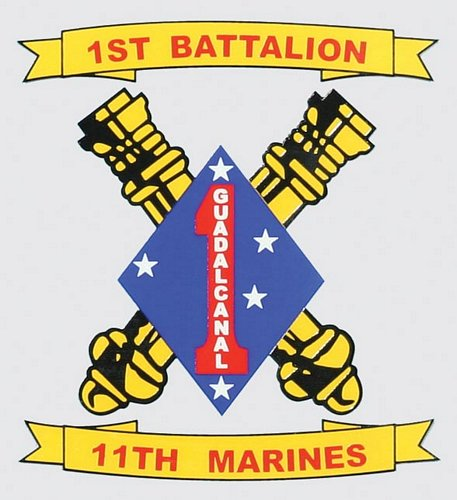 1st BN 11th Marine Crossed Cannon Decal