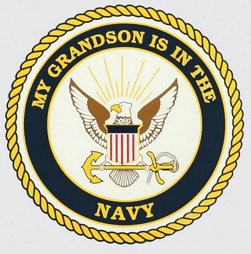 My Grandson Is In The Navy Decal