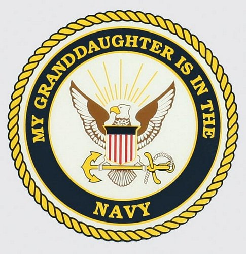 My Granddaughter Is In The Navy Decal