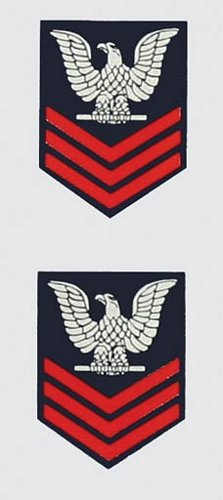 E-6 1st Class (Gold) Mini Decal ( 2pc.)