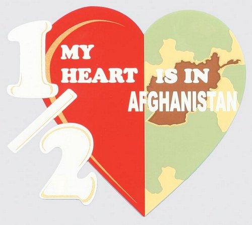 Half My Heart is in Afghanistan Decal