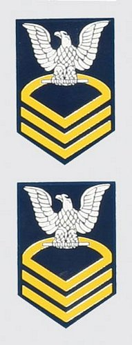 E-7 Chief Mini Decal( 2pc.)