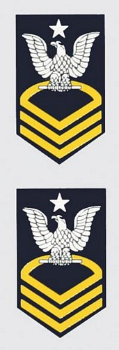 E-8 Senior Chief Mini Decal(2 pc.)