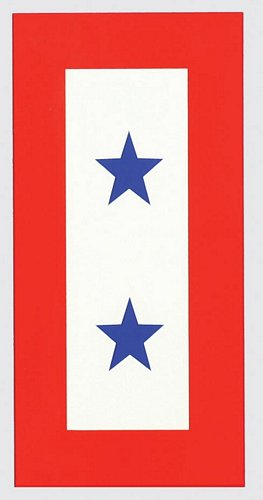 Two Blue Star Service Decal