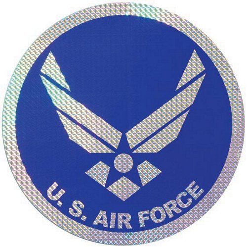 "New Air Force Logo 12"" Prism Decal"