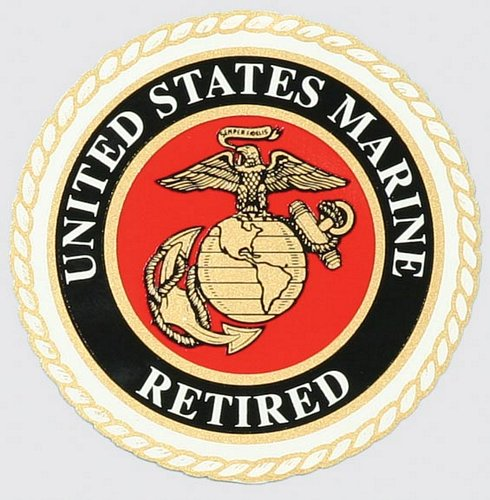"U.S. Marine Retired 4"" Round Decal"