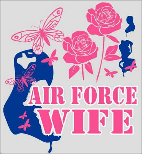 Air Force Wife (Butterflies) Decal
