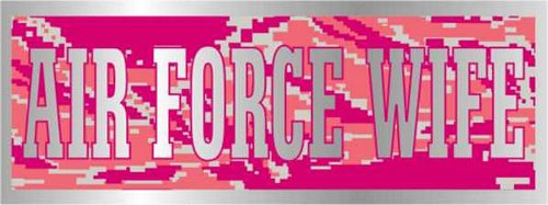 Air Force Wife Pink ABU Pattern Bumper Sticker