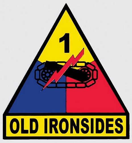 1st Armored Division Decal