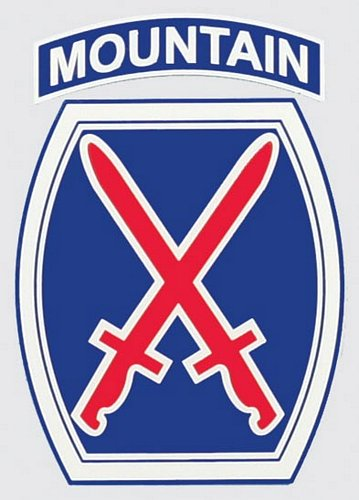 "10th Mountain Logo(Shield) 4"" Decal"