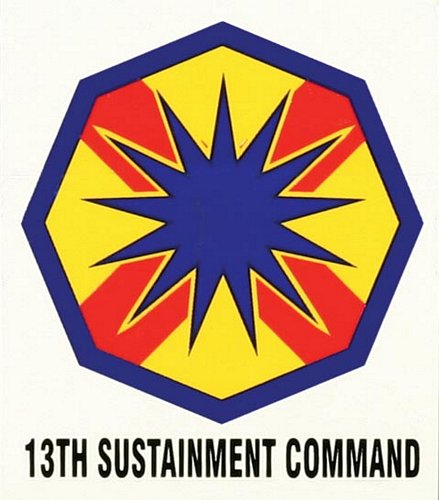 13th Sustainment Command Decal