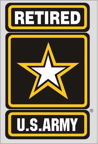Army Star Retired Decal