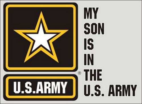 My Son is in the Army (Star Logo) Decal