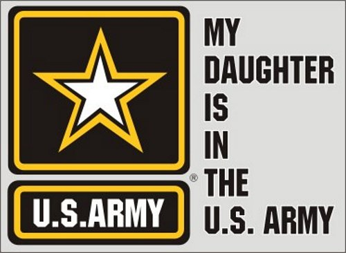 My Daughter is in the Army (Star Logo) Decal
