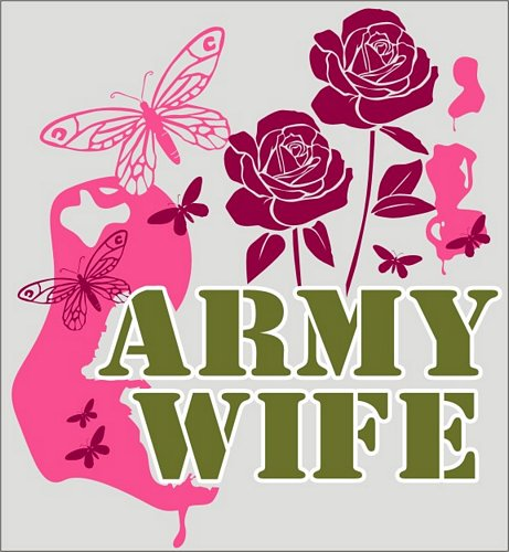 Army Wife (Butterflies) Decal