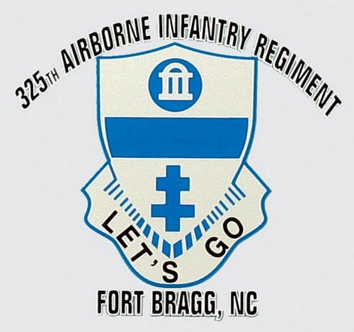 325th ABN Inf. Reg. Ft. Bragg Decal