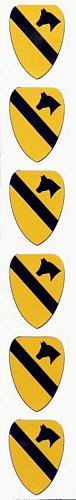 1st Cavalry Mini Vinyl Stickers (set of six)