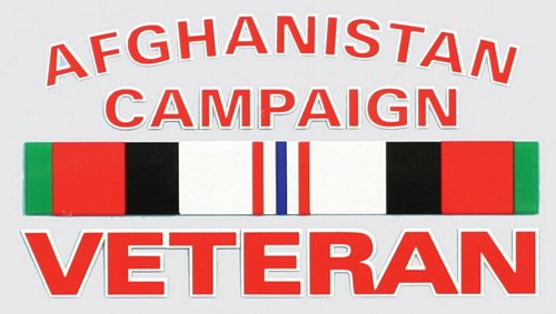 Afghanistan Campaign Vet. Ribbon Decal