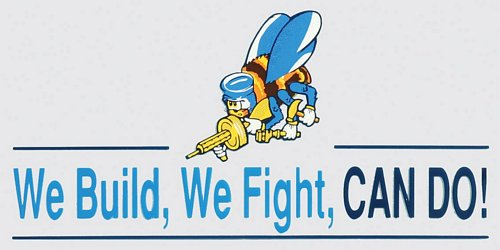 "Seabees ""We Build, We Fight"" Decal"