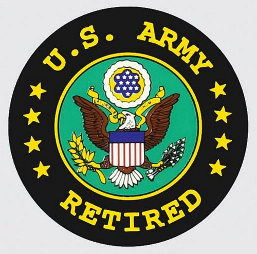U.S. Army Retired Round Decal