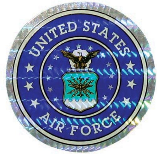 "U.S. Air Force 3"" Circle Prism Sticker"