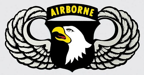 101st Airborne Jump Wings Decal