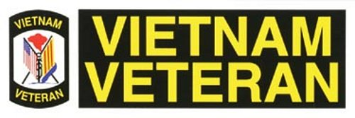 Vietnam Veteran Shield Bumper Sticker