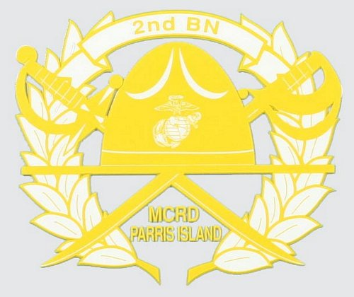2nd Recruit BN Parris Island Decal
