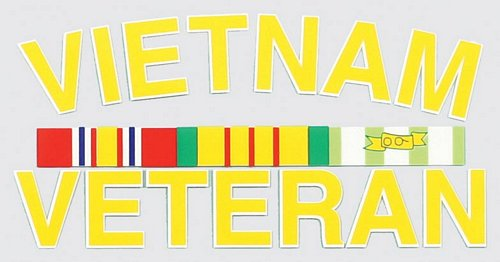 Vietnam Veteran w/ Ribbon Decal