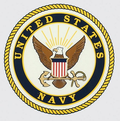 "U.S. Navy 4"" Round Decal"
