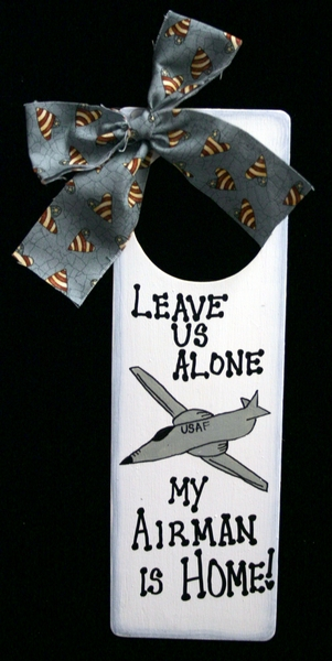 Air Force Door Hanger, Leave us Alone w/ Graphic