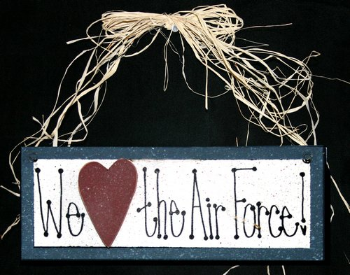 Heart Sign, We Love the Air Force