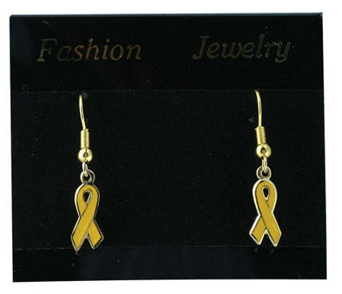 Yellow Ribbon Earrings ( 1 pair)